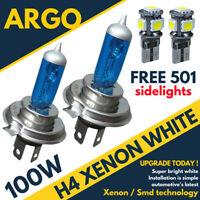 H4 100w Super White Xenon 472 Headlight Bulbs Xennon 12v Ultra Bright Sidelights