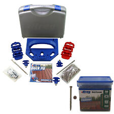 Kreg KJDECKSYS Pocket Hole Jig System Kit with Bonus 700 #8 Deck Screws