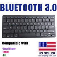 Wireless bluetooth 3.0 keyboard For iPad Mini tablet iPhone android  PC Smartpho