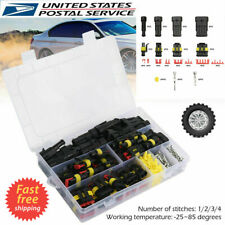26 Set 1-4 pin Way Sealed Waterproof Electrical Wire Connector Plug Car Auto Set