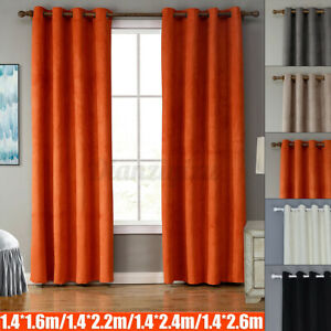 5 Colors 55''x63''-102'' Grommet Micro Suede Curtain Panel Window Blackout Cover