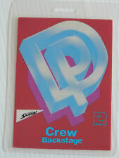 DEEP PURPLE Laminated CREW Backstage Tour Pass - 1984 PERFECT STRANGERS