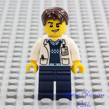 NEW Lego Male DOCTOR SCIENTIST MINIFIG - Hospital White Lab Coat Research Tech