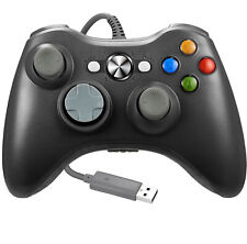 USB Wired Video Game Controller For Microsoft Xbox 360 WindowsPC 7 8 10 XP Black