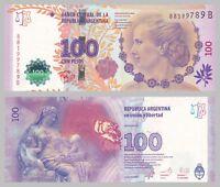 Argentinien / Argentina 100 Pesos 2012 p358b signature 1 unz.