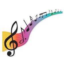"LOVE OF MUSIC musical notes car bumper sticker 5"" x 4"""