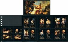 Central Africa Art Nude Middle Ages Titian Titien complete MNH stamp set