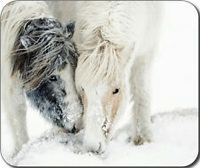 Snow Horses Large Mousepad Mouse Pad Great Gift Idea