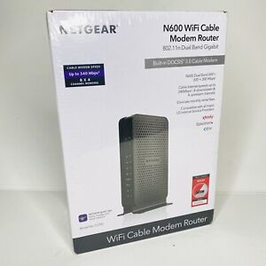 Netgear N600 C3700 WiFi Cable Modem Router Dual Band 8 x 4 DOCSIS 3.0 NEW SEALED