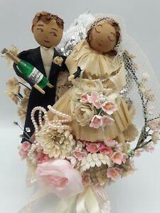 Vintage HANDMADE Wedding Anniversary Corsage Decoration Millinery Bride Groom