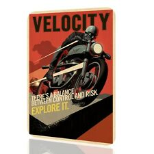 WALL SIGN Velocity Motorcycle Vintage Poster Classic Retro Harley Davidson Decor