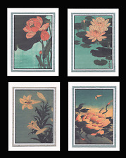 4 Flower Note Cards by Koson GCFS001