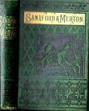 RARE 1870 CLASSIC ILLUSTRATED SANDFORD & MERTON VICTORIAN EDITION GIFT