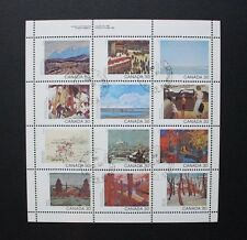 CANADA 1982 Canadian Landscape Paintings. SHEETLET of 12. Fine USED. SG1047a/l.