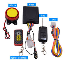 Motorcycle Scooter Security Alarm System Remote Control Engine Start Anti-theft