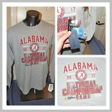 2017 National Championship Alabama Crimson Tide Game L/S T Shirt Mens Large NWT
