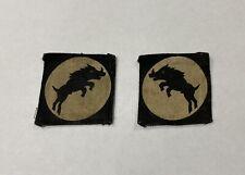 Rare Pair Of Original WW2 XXX Corps Formation Badges Patches Genuine