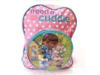 Girl Disney Doc Mcstuffins School Bag Rucksack Backpack Brand New Gift