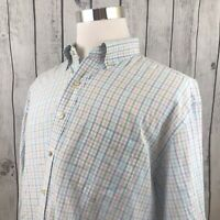 Vineyard Vines Men's White Plaid Button Long Sleeve Shirt Murray Size XL