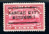 USAstamps VF US Parcel Post Kansas City Pre-Cancel Scott Q9 NG HR