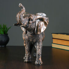 Bronze Elephant Shelf Deco - Elephant Statue Figurines Home Decor