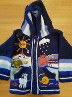Peruvian Hand Knit Kids Jumper Cardigan Zip Hoodie Jacket RRP £25.00 Various