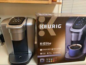 Keurig K-Elite Brushed Silver Single Serve Coffee Maker FREE SHPPING!