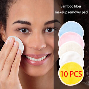 Reusable Make Up Remover Pads Face Facial Washable Bamboo Cleansing Pads +Bag✅