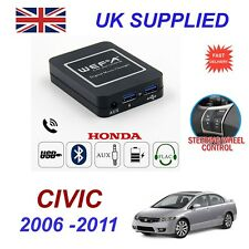 For Honda Civic Music Streaming Bluetooth Telephone Charger SD AUX CD Module 24