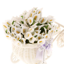 144 x Mini Artificial Calla Lily Wedding Flowers Bouquet Foam Decor White