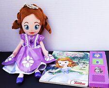 Disney Junior Sofia The First Princess Plush Doll Book Show Tell Surprise Sound