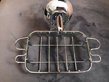 NEW SILVER METAL HOLD ON SUCTION SOAP DISH