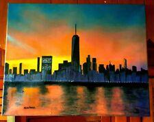 Original-One of Kind-Oil/Canvas Painting-New York Sunrise- Signed-COA-Listed Art