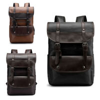 Men's Retro Backpack School Casual Travel Outdoor Business Synthetic Leather Bag