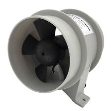 4 Inch In-line Blower Bilge 12V with Quiet Operation Low Amp Draw White