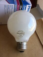Philips 25G25/W 25W G25 Globe Light Lamp Bulb Medium Base White 120volts
