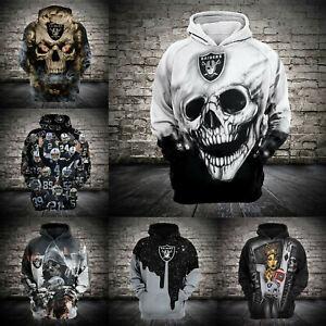 Men's Las Vegas Raiders Hoodie Football Pullover Sweatshirt Casual Hooded Jacket
