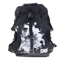 Waterproof Polyester Backpack Shoulder Bag for Roller Inline Skates Black