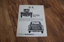 MG Magnette - Original Vintage Advert Advertisment - Great for Framing