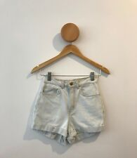 American Apparel Light Wash High Waisted Denim Shorts
