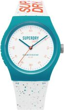 Superdry Ladies Urban Watch with White Dial and Fleck White Silicone Strap SY...