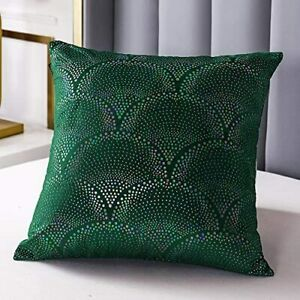 2Pack Throw Pillow Covers 18X18 Decorative Pillow Covers Home Soft Velvet GREEN