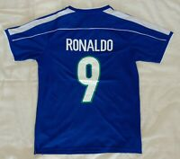 1998 Brazil 9 RONALDO retro classic soccer football team away t-shirt jersey tw