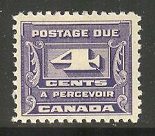 Canada #J13, 1933 4c Postage Due - Third Postage Due Series, Unused Hinged