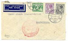 NEDERLAND LUFTHANSA 1935-7-22 URUGUAY ( TR CT 92½ ) BUSINESS CV  FINE FRAAI