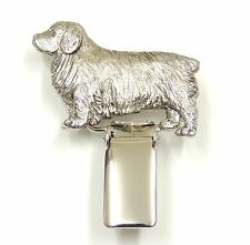 Clumber Spaniel Dog Show Ring Clip/ Ring Number Holder
