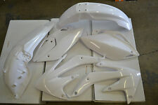 RACE TECH PLASTIC KIT HONDA CRF450X 2008-2017 SHROUDS  FENDERS PLATES WHITE