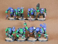 Warhammer 40K Orks Ejército - 8 X Modelos Boyz Mob pintado plástico