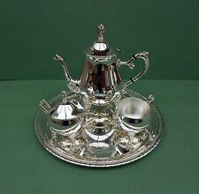 Vintage Silver Plated Tea Set and Tray