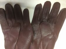Mens Superb Pigskin Gloves for a medium to Large hand. Tan Brown soft leather